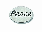"""Message Beads """"Peace"""" 11x8x3mm"""