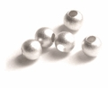 Satin Round Sterling Silver Beads 4mm