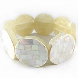Chamber Nautilus Block Shell Bangle Bracelet