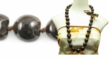 Brown Kukui Nut Beads