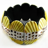 Elastic Pectin/Leteratus Bangle Bracelet-Yellow Green