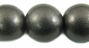 Metallic Charcoal Round  Wood Beads 20mm