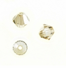 Swarovski Beads Bicone Crystal Golden Shadow 5301