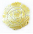 Mother Of Pearl Carved Rose Flower Shell Pendants 45mm