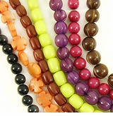 Colored Buri Seed Beads
