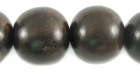 Round Natural Ebony Wood Beads 20mm