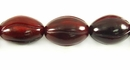 Red Horn Carved Oval Beads 12x17mm