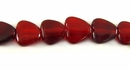 Red Horn Heart Beads 10mm