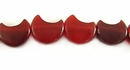 Red Horn Half Moon Beads 12mm