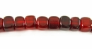 Red Horn Dice Beads