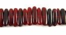 Red Stick Horn Beads 5x15mm
