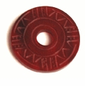 Red Horn Carved Donut Pendant
