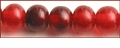 Red Horn Round Beads 8mm
