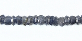 Iolite Faceted Rondelle Beads 5x3mm