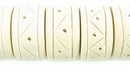Bleached White Drum Wood Beads