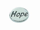 "Message Beads ""Hope"" 11x8x3mm"
