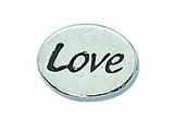 "Message Beads ""Love"" 11x8x3mm"