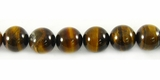 Yellow Tiger Eye Round Beads 8mm