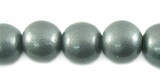 Metallic Gray Round Wood Beads 10mm
