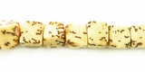 Natural Dice Salwag Beads 7mm