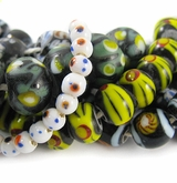 Round & Rondelle Lampwork Glass Beads