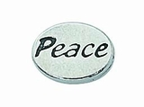 "Message Beads ""Peace"" 11x8x3mm"