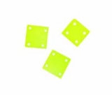 Hammershell Square 10mm Yellow Green Shell Beads