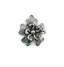 Metalcast Silver  Small Flower Finish Charm