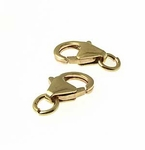 Gold Filled Trigger Clasps With Jump Rings 6x11mm