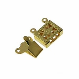 Gold Plated Snap Clasps 10x14mm