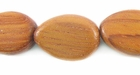 Flat Teardrop Bayong Wood  Beads 12x16mm