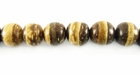 Tiger Round Coco Beads 8mm