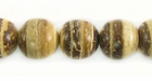 Tiger Round Coco Beads 10mm