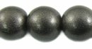 Metallic Charcoal Round Wood Beads 15mm