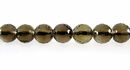 Smoky Quartz Faceted Round Beads 6mm
