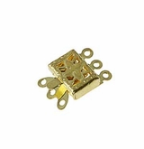 Gold Plated Snap Clasps 10.5x14mm