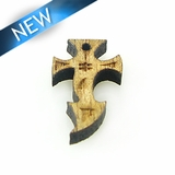 Mahoganny Wood Cross Laser Designed 20x12x3.5mm