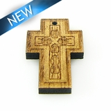 Mahoganny Wood Cross Laser Designed 26x18x3.5mm