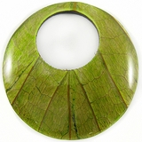"Round Coco Back ""Cab-Caban"" Leaf Inlay Pendant"