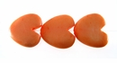 Pastel Orange Heart Bone Beads 15mm