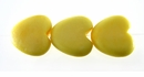 Pastel Yellow Heart Bone Beads 15mm