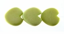 Pastel Green Heart Bone Beads 15mm