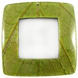 "Square Coco Back ""Cab-Caban"" Leaf Inlay Pendant"