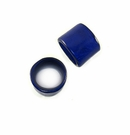 Laminated Shell Capiz Ring Beads - Electric Blue