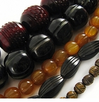 Carved Horn Beads