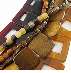 Square and Cube Horn Beads