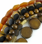 Bicone & Faceted Horn Beads