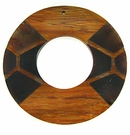 Donut Bayong Wood with Brownpen-inlay Pendant 60mm