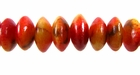 Saucer Limestone Apple Coral Beads