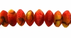 Rough Saucer Limestone Apple Coral Beads